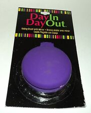 DAYIN DAYOUT Folding Brush With Mirror PURPLE New On Card