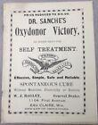 Dr Sanche's Oxydoner Victory Self Treatment W.J.Bagley Eau Claire Wi. Dealer