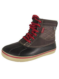 Crocs Mens AllCast Waterproof Duck Boot Shoes, Espresso/Clay, US 7
