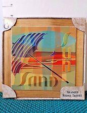 Trivet, Beach Theme, Absorbastone, Sun,Sand,Sailboat,Ocean,Highland Graphics Inc