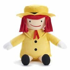 "Plush Stuffed Doll Madeline Kohls Cares 14"" Yellow Hat Outfit Red Hair"
