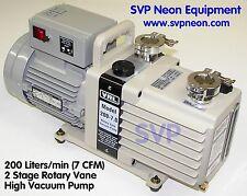 7 CFM (200 L/MIN) 2 STAGE OIL SEALED VACUUM PUMP VRL / VRC ALCATEL EDWARDS WELCH