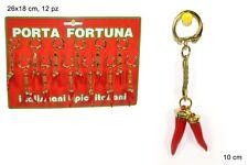PORTACHIAVI CORNETTO ROSSO E PORTA FORTUNA accessori idee regalo 024 59576
