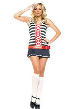 Anclas Rayas Marinero Pin Up Leg Avenue Disfraz UK 8-10 Navy uniforme compañero