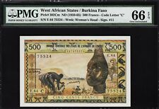WEST AFRICAN STATES, BURKINA FASO 500 FRANCS, 1959, PMG 66 GEM UNC, EPQ, P-302Cm