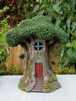 Miniature FAIRY GARDEN House ~ Tree House Treehouse Cottage with LED Light ~ NEW