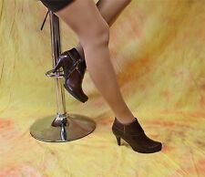 moccabraune Ankle Boots Stiefeletten aus Ziegen-Nappaleder