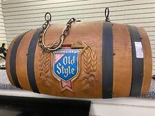 New ListingVtg Old Style Beer Barrel Pool Table Hanging Bar Light Pub Sign