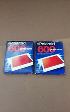 Polaroid 600 Instant Film 2 Pack 20 exposures Expired 9 01 Sealed A7