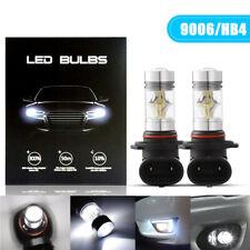 2x 9006 LED Foglight HB4 Headlight 6000K 100W Projector Driving DRL Bulbs White