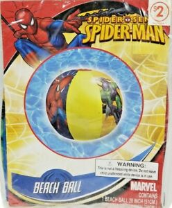 2011 Marvel Spiderman 20in Inflatable Beachball New Sealed