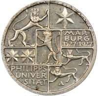 Germany Weimar Republic Marburg Uni. Proof 3 Silver Reichsmark 1927-A NGC PF64