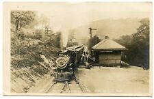 RPPC Pennsylvania Hooversville Railroad Station Depot with Locomitive 1912