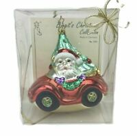 Birgits Santas Roadster Christmas Tree Holiday Ornament Germany Signed NIB