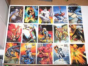 1996 MARVEL MASTERPIECES BASE SINGLE CARDS! AVENGERS Genesis Duels BORIS JULIE!