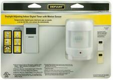 Defiant Daylight Adjusting Indoor Digital TImer W/ Motion Sensor (1000 015 589)