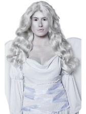 Women's Cemetery Angel Cement Gray Long and Wavy Wig