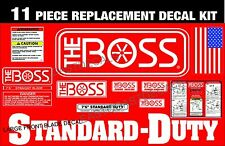 BOSS Standard Duty Snow Plow 11 Pc Decal Replacement Kit Order Any size Blade