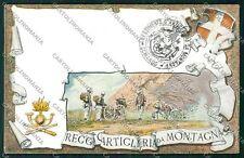 Militari Reggimentale Artiglieria Montagna cartolina QQ7862