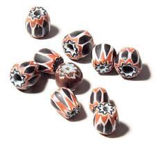 (10) antique Venetian Murano 6 layer chevron rosetta African trade glass beads