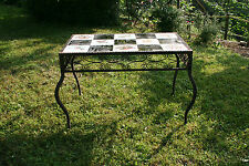 TABLE  BASSE EN FER FORGÉ ART DECO