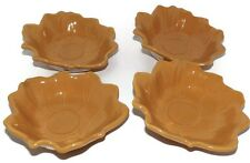4 Pfaltzgraff Plymouth Cider Tea Light Candle Leaf Holders Thanksgiving Fall