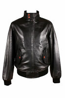 HARRINGTON BLACK (2154) Men's Bomber Style Classic Real Lambskin Leather Jacket