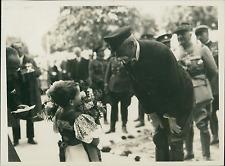 Slovaquie 1930, visite du Maréchal Franchet d'Espèrey  Vintage silver print