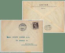 64172 - ITALIA REGNO - STORIA POSTALE : VOLTA 60 Lire ISOLATO su  BUSTA  1927
