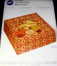 "Wilton Pie Treat Boxes Cookies Candy Gift 9"" x 9"" x 3.5"" Set of 2"