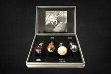 Cierre Kit de 4 MERCEDES schaltknaufoptik ACERO inox. madera color champaña