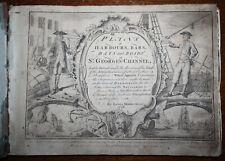 1748 Pläne von Häfen Bars Buchten und Straßen in St. Georgs-Kanal Morris 25 Karten
