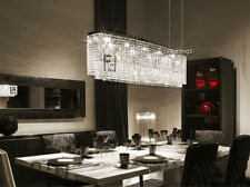 "L37.4"" Modern Crystal Pendant Light Lamp Chandelier Dining Room Lighting Fixture"