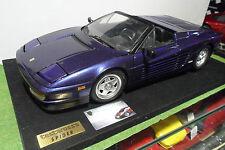 FERRARI TESTAROSSA Spider Cabriolet violet socle montée 1/8 POCHER voiture minia