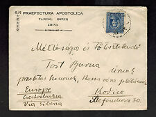1930s Taming China Missionary Cover to Kosice Czechoslovakia