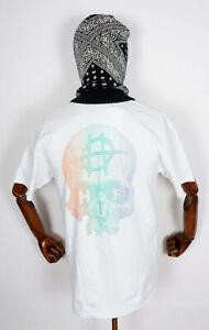 Huf Worldwide Skateboard T-Shirt Tee Data Death White in M