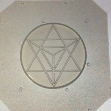 "Flexible Resin Chocolate Mold Sacred Geometry Merkaba 35mm Diameter X 1/4"" Deep"