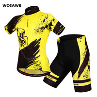 Men's Cycling Sets MTB Bike Riding Jersey Shorts Padded Race Fit Breathable Tops