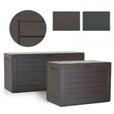 Kissenbox Gartenbox Auflagenbox Box Gartentruhe Woodebox Anthrazit Umbra