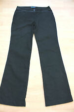 BODEN black bootcut  cotton trousers   size 8L  with grey trim