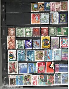 Switzerland Europa 1940+ Θ used stamps Nature, Transportation, Animated, Music