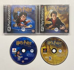PS1 Harry Potter Chamber Of Secrets & Sorcerer's Stone COMPLETE!! PlayStation 1