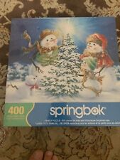 Springbok Frosty Family Snowman Jigsaw Puzzle 400 New Sealed Big Little Pieces