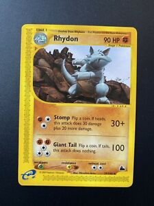 Rhydon 29/144 Rare Skyridge 2003 Near Mint Pokemon Card