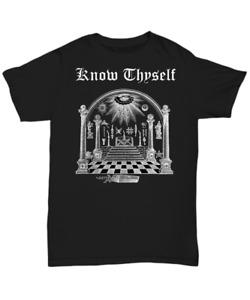 Masonic shirt - Know Thyself - Freemason symbol Scottish York rite lodge apparel