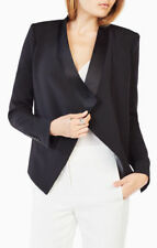 NEW BCBG MAXAZRIA BLACK AUBREE COLLARED JACKET DXN4J391/S56A SIZE S