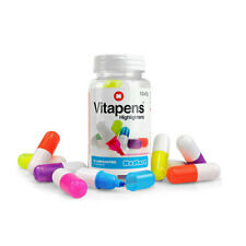 Vitapens Highlighters Pack Of 10 Capsule Shaped In Multiple Colors By Mustard