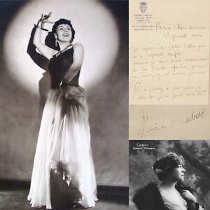 🌓 La chanteuse MARIE DUBAS écrit à la comédienne Berthe CERNY Bal du Claridge