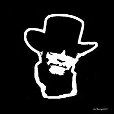 Hank Williams Jr Country Singer Songwriter Music Car White Guitar Decal Sticker