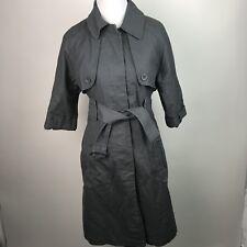 BB Dakota Womens Trench Coat Short Sleeves Cotton Blend Gray Career M AM50